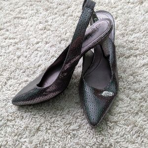 Pewter Silver Pumps